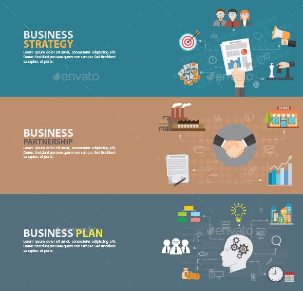 Flat Design Concept - Business Conceptual