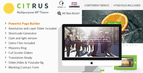 Citrus – Creative One Page Multi-Purpose Theme