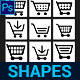 Shopping Cart Custom Shapes - GraphicRiver Item for Sale
