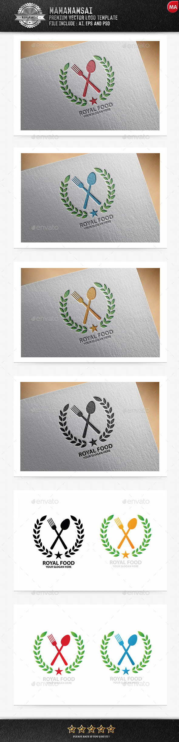 Royal Food Logo - Logo Templates
