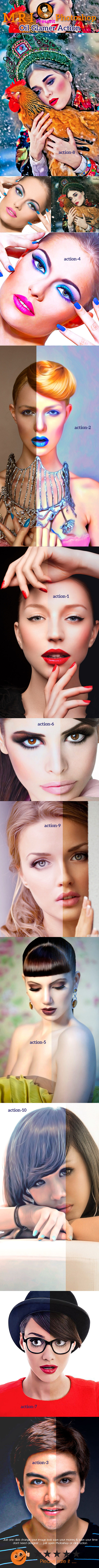 Oil Glamer Action - Photo Effects Actions