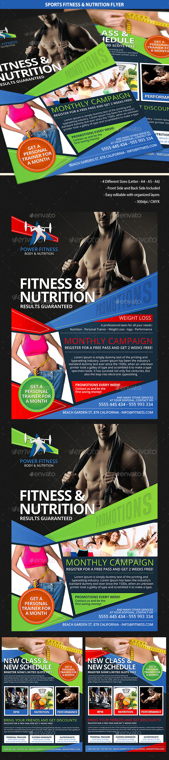 Sports Fitness & Nutrition Flyer - Sports Events