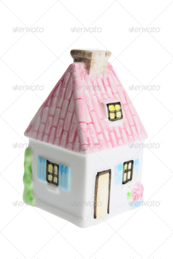 Miniature House Figurine - Stock Photo - Images