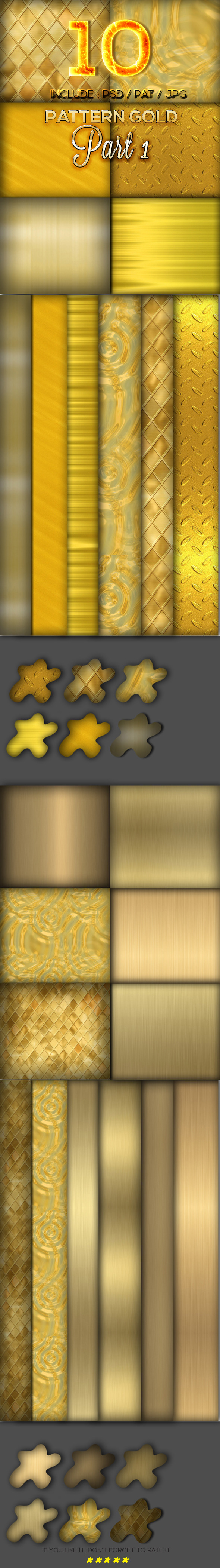10 Gold Pattern Part 1 - Textures / Fills / Patterns Photoshop