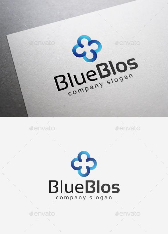 Blue Blos Logo - Abstract Logo Templates
