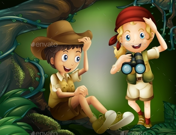 Explorers in the Jungle - People Characters