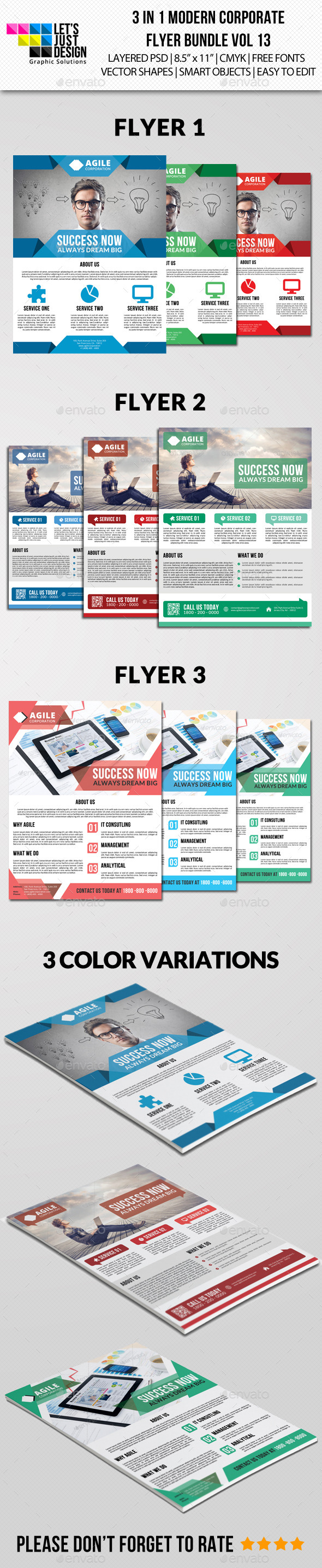 Modern Corporate Flyer Pack Vol 12 - Corporate Flyers