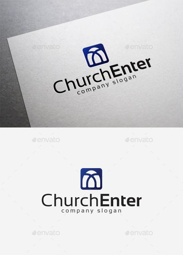 Church Enter Logo - Abstract Logo Templates