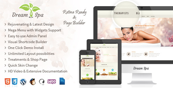 Dream Spa - Salon, Spa WordPress Theme - Health & Beauty Retail