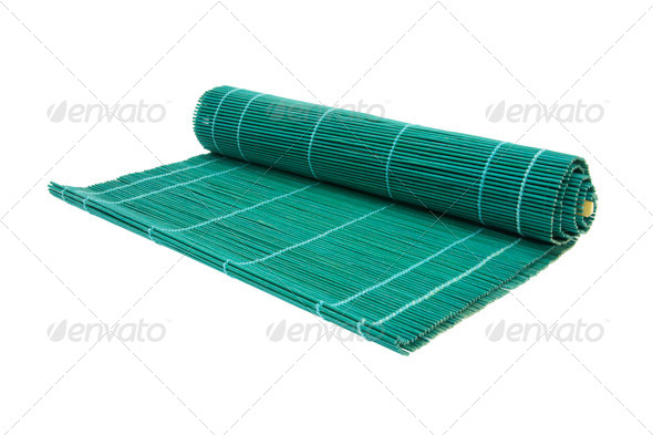 Sushi Bamboo Mat - Stock Photo - Images