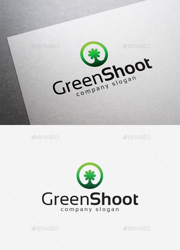 Green Shoot Logo - Objects Logo Templates