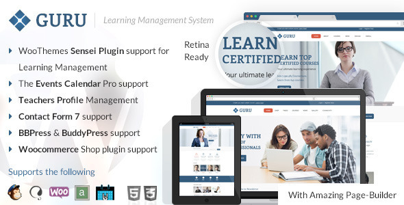Guru | Learning Management WordPress Theme - Education WordPress