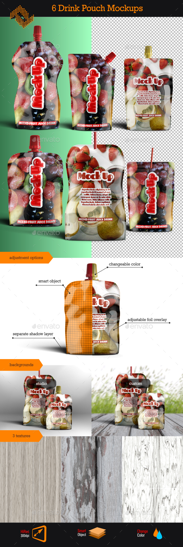 Aluminum Instant Drink Pouch Mockup - Food and Drink Packaging