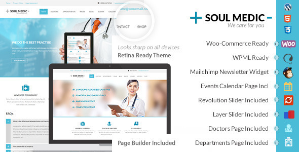 SoulMedic | Hospital & Doctor WordPress Theme