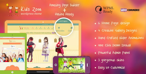 Download Kids Zone | Children & Kids WordPress Theme nulled version