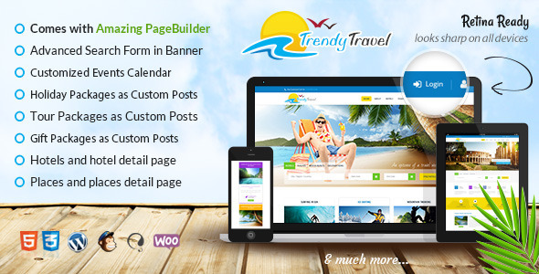 Trendy Travel – Tour, Travel & Travel Agency Theme