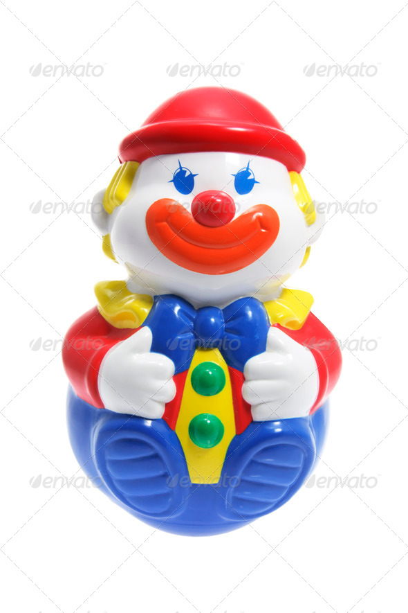 Roly-Poly Toy Clown - Stock Photo - Images