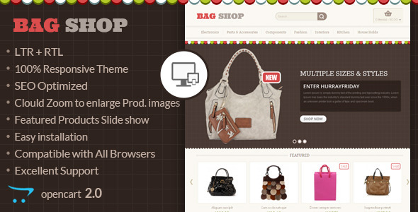 Bag Shop – OpenCart Responsive Theme