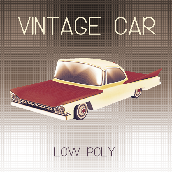 Vintage Car (Low Poly) - 3DOcean Item for Sale