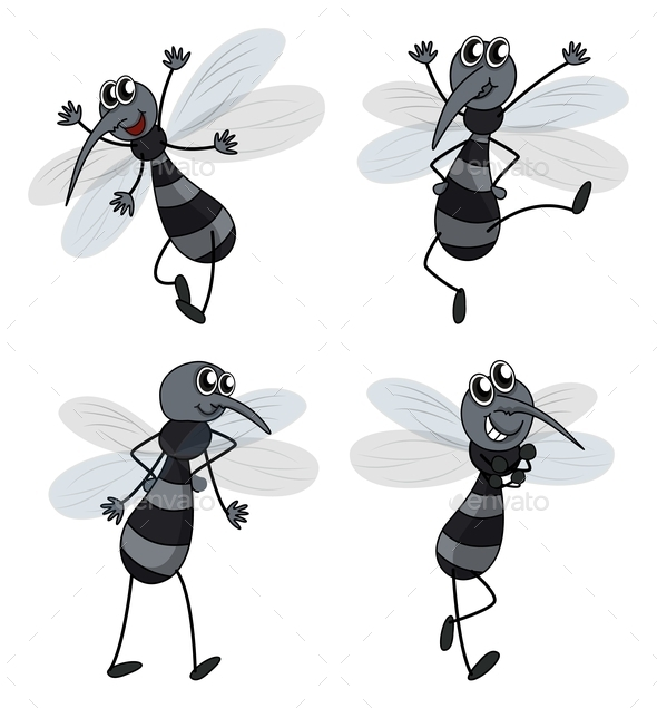 Four Mosquitoes - People Characters