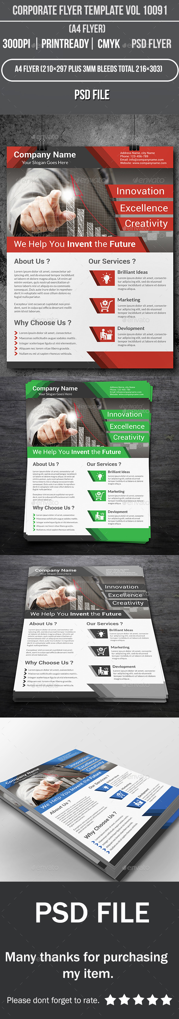 Corporate Flyer Template Vol 10091 - Corporate Flyers