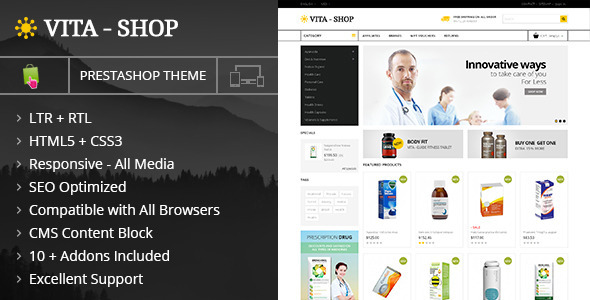 Vita Shop – Prestashop Responsive Theme