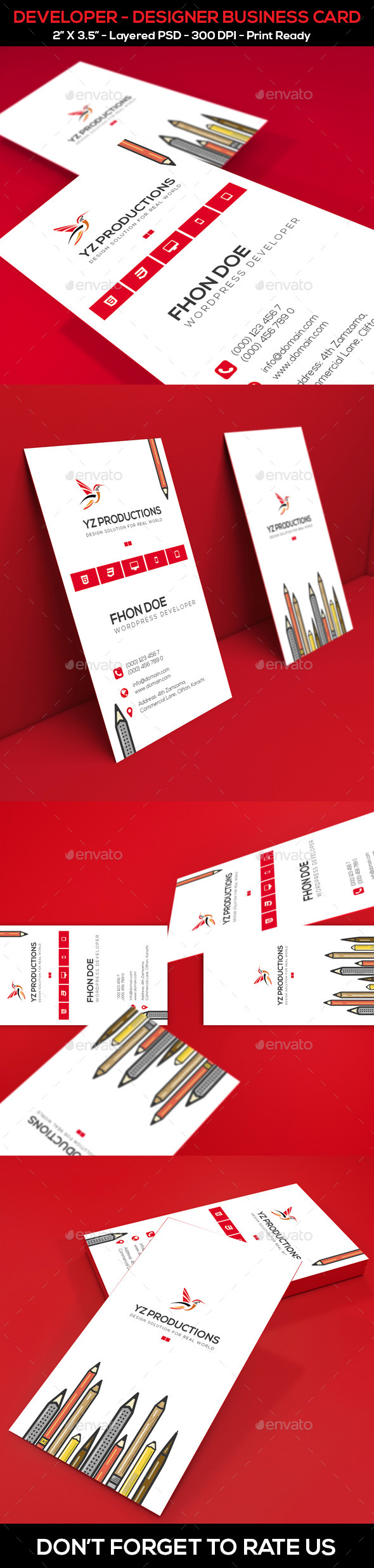 Developer – Designer Business Card - Industry Specific Business Cards