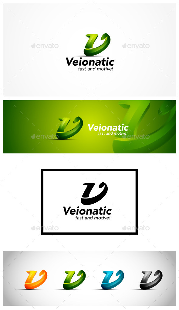 3D Letter V Logo - Letters Logo Templates