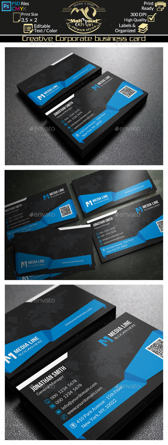 Creative Corporate Business Card 67 - Creative Business Cards