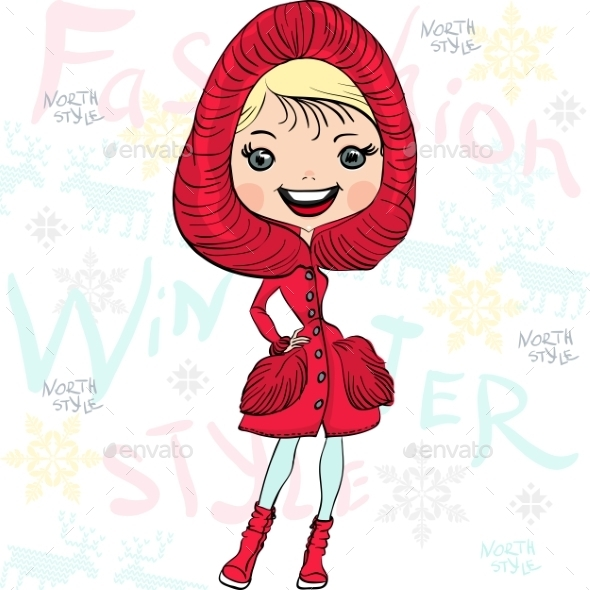 Winter Fashion Girl - People Characters