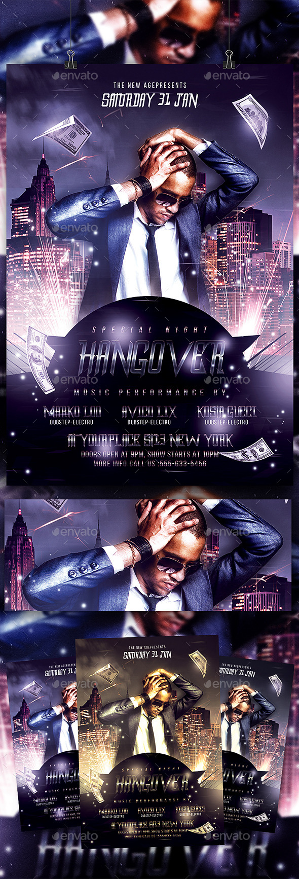 Special Night Hangover - Flyer Template - Clubs & Parties Events