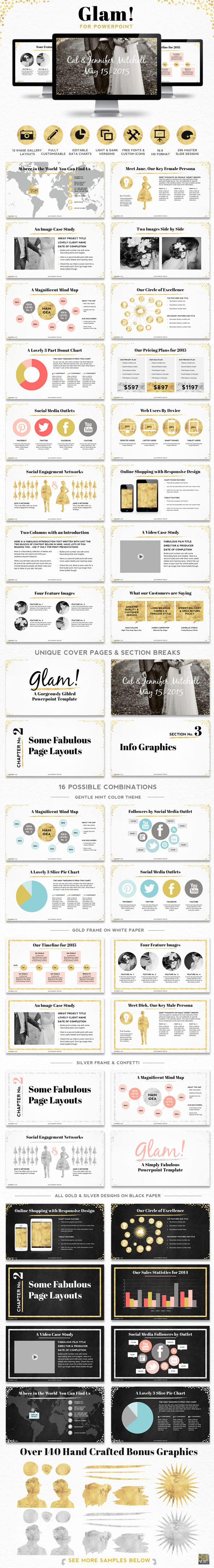 Glam! Powerpoint Presentation Template - Creative PowerPoint Templates
