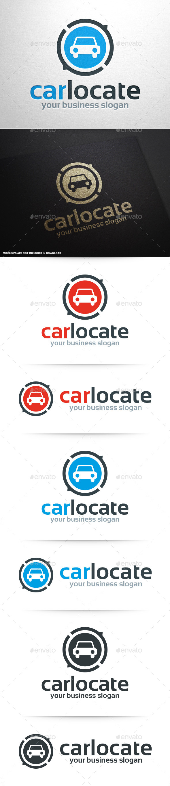 Car Locate Logo Template - Objects Logo Templates
