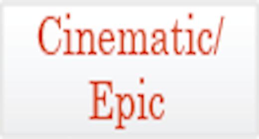 Usage - Cinematic Epic