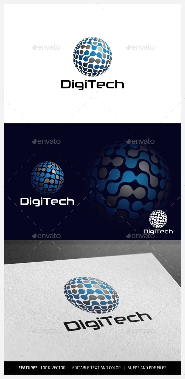 DigiTech Logo - Vector Abstract