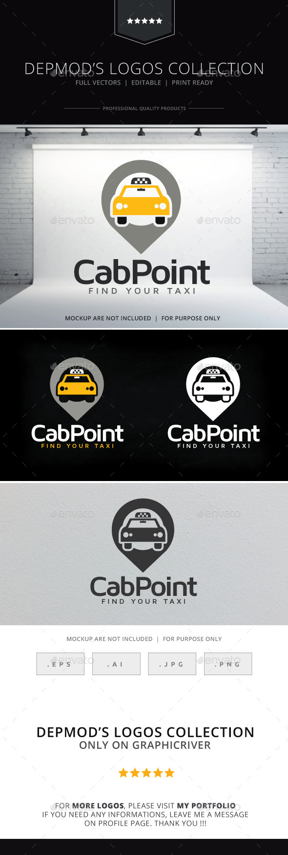 Cab Point Logo - Symbols Logo Templates