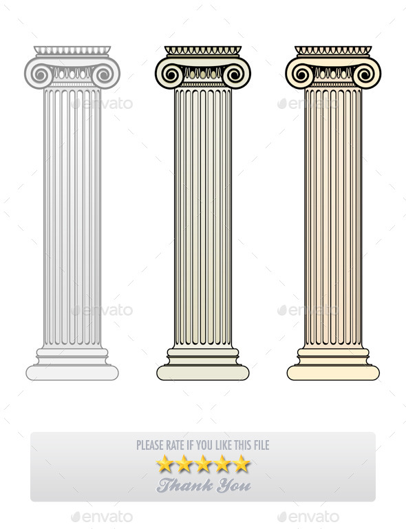 Ionic Columns - Buildings Objects