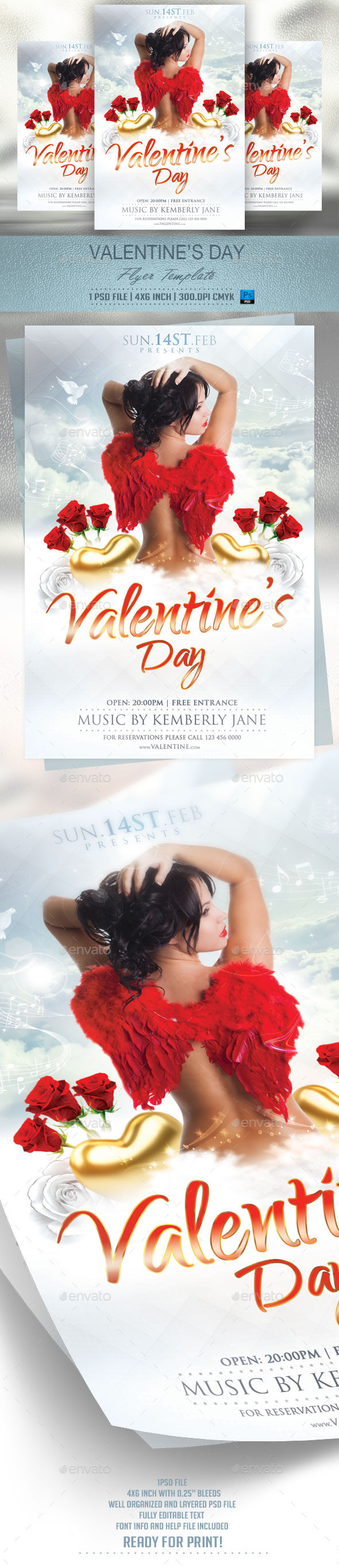 Valentines Day Flyer Template v2 - Events Flyers