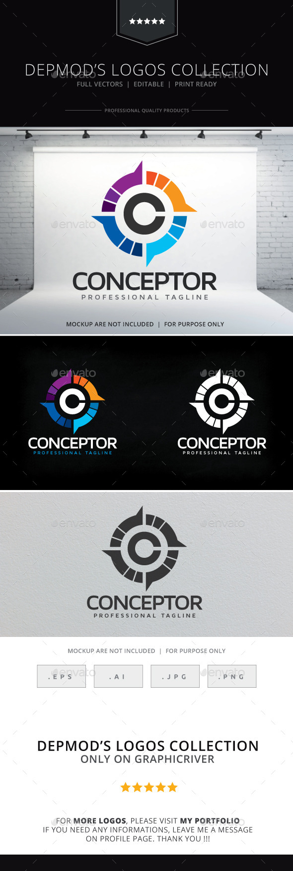 Conceptor Logo - Letters Logo Templates
