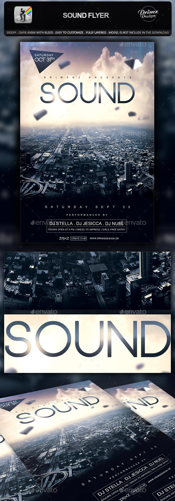 Sound Flyer - Events Flyers