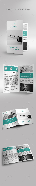 Business Bi-Fold Brochure - Brochures Print Templates