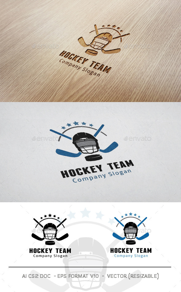 Hockey Team Logo - Objects Logo Templates