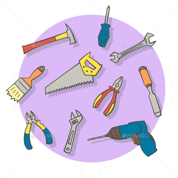 Working Tools - Objects Vectors