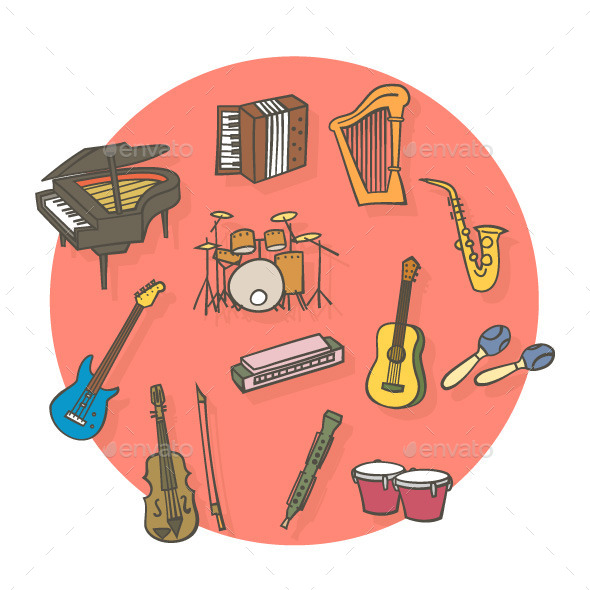 Music Instruments  - Objects Vectors