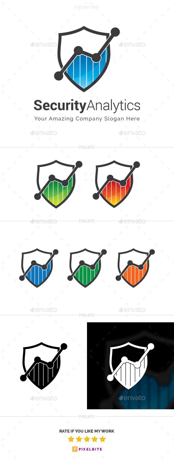 Security Analytics Logo Template - Symbols Logo Templates