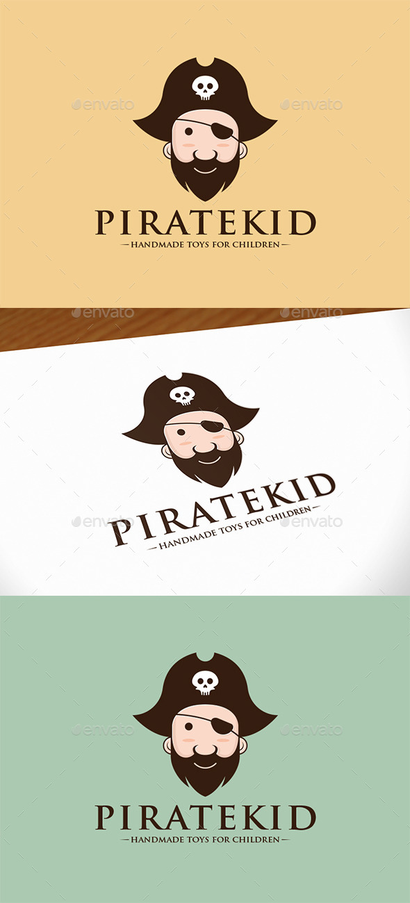 Pirate Kid Logo Template - Humans Logo Templates