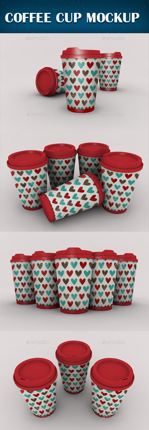Coffee Cup Mockup - Product Mock-Ups Graphics