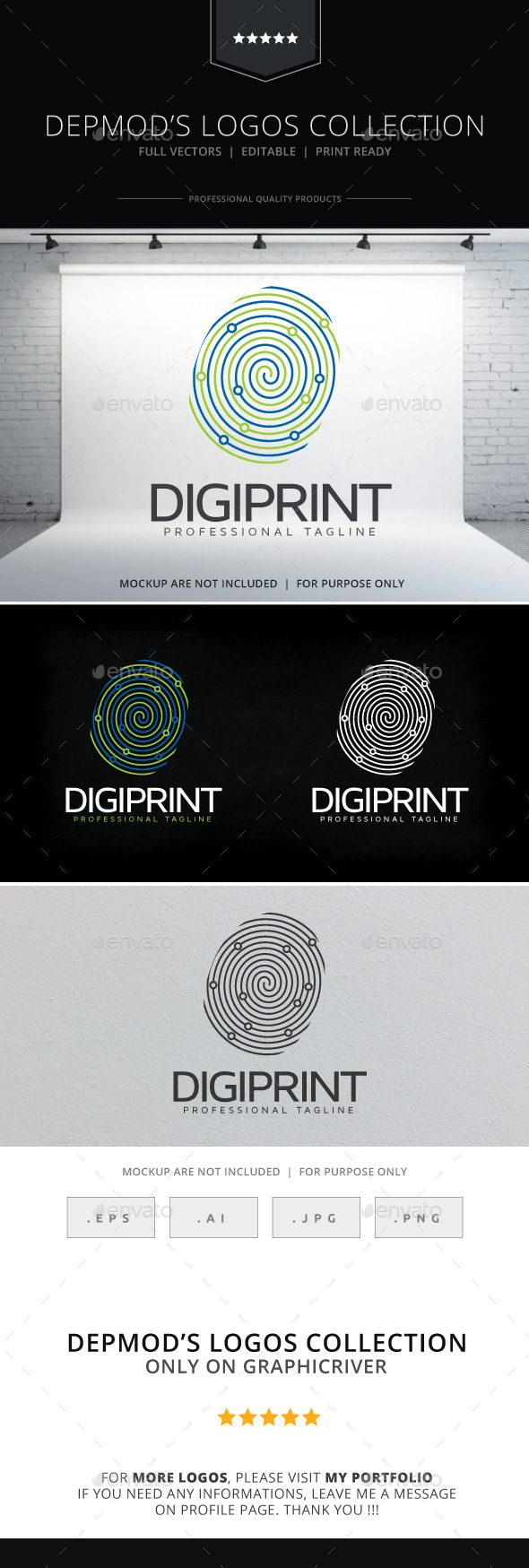 Digi Print Logo - Objects Logo Templates