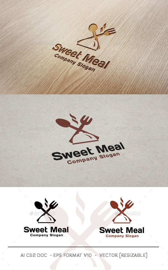 Sweet Meal Logo - Food Logo Templates
