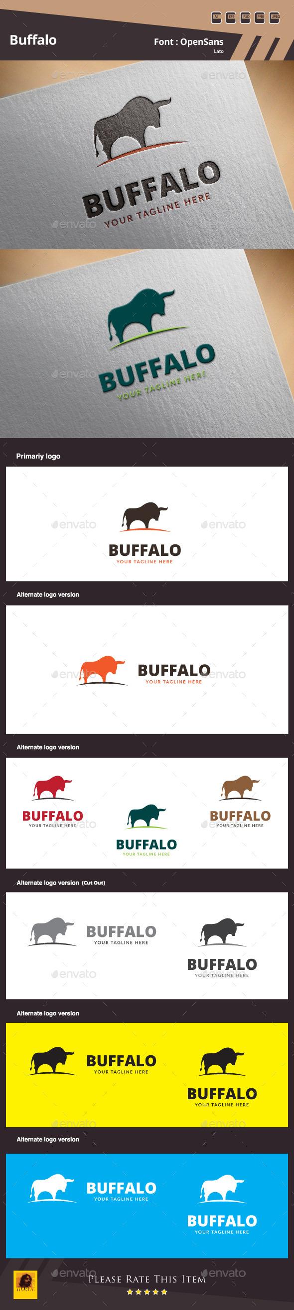 Buffalo Logo Template - Animals Logo Templates